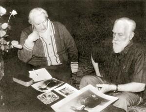 Л.В. Шапошникова и С.Н. Рерих. Фото из архива Международного Центра Рерихов.