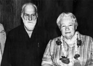 С.Н. Рерих и Л.В. Шапошникова в Татагуни, 1990 г.